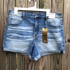 Ariya Curvy High-Rise Jean Shorts